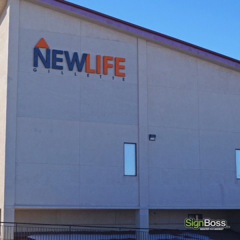 New Life Church – Dimensional LED Building Sign