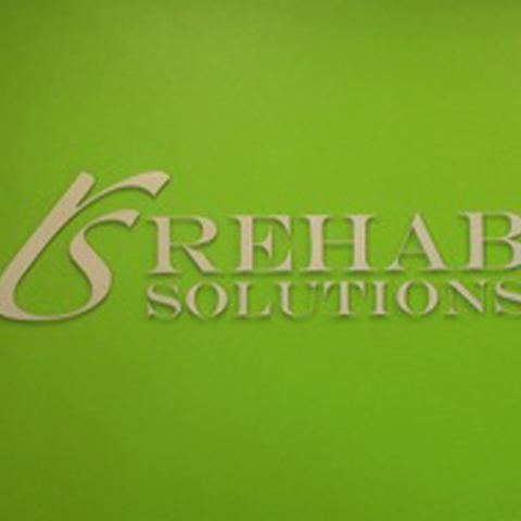 Rehab Solutions – Dimensional Lobby Sign