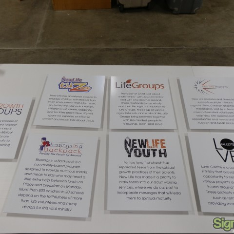 New Life Church – Mission Statement Plaques