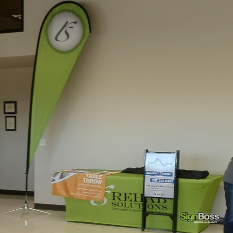 Rehab Solutions – Tradeshow Display Flag & Table Cover