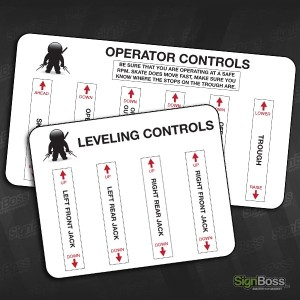 Walker Inspection – Control Stickers
