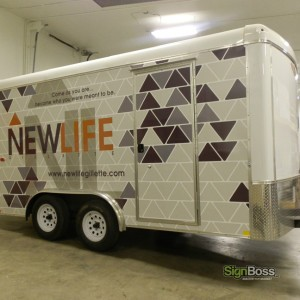 Full Wrap – New Life Church Trailer