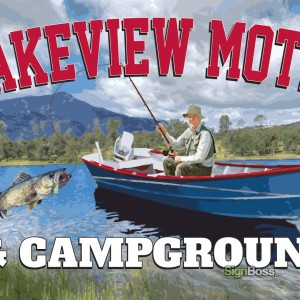 Lakeview Motel & Campground – Entrance Sign Design