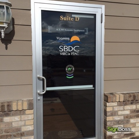 Cut Vinyl with Window Cling