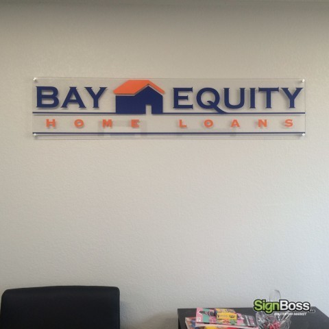 Cut Vinyl Stand-off Signs