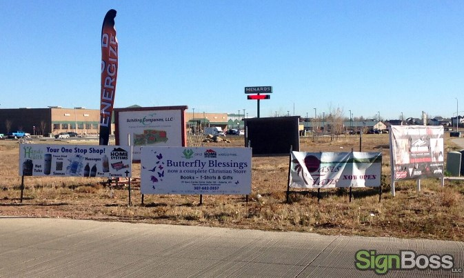 custom designed banners for Gillette WY